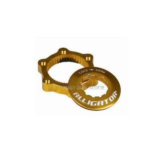 New Gold Alligator Disc Rotor Center Lock Adapter
