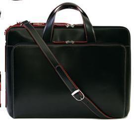 Lodis Audrey Slim Triangle Womens briefcase laptop case tote bag Black