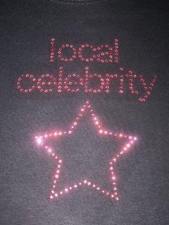 Girls Local Celebrity Rhinestone T Shirt Ith Star New
