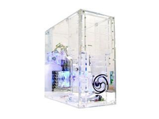 LOGISYS Computer CS888CL Transparent Clear Acrylic ATX Mid Tower