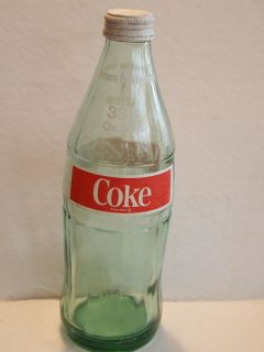 1970s Vintage Coca Cola Bottle 1 Liter Light Green Glass 33 8 oz Sizes
