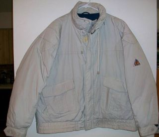 Big Mens Size 1x London Fog Khaki Winter Jacket Coat