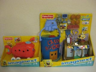 Fisher Price Imaginext SpongeBob Krusty Krab Playset Bikini Bottom Bus