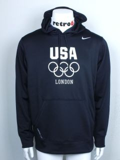 Nike USA 2012 London Olympics Sz Large L New Mens Therma Fit Hoodie 5