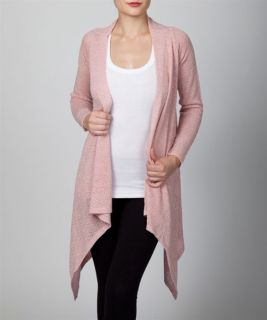 Pink Gold Asymmetrical Cardigan Duster Long Sweater Pick s M L