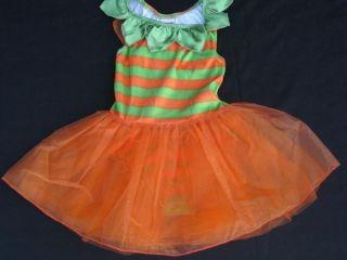Gymboree Pumpkin Fairy Dress Up Costume Size 2T 3T Orange Green