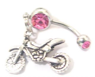 Motorcycle Motocross Belly Navel Button Ring
