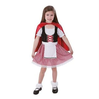 Little RED RIDING HOOD Costume Dress Up Size Small 4 6 NWT Cape wolf