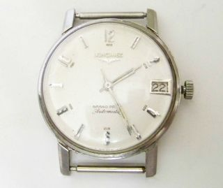 Vintage Longines Grand Prize Automatic Stainless Steel Wrist Watch AS