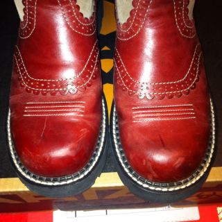 Ariat Gem Baby Fat Baby Boot Western Red