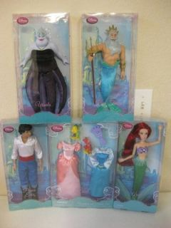 Little Mermaid 11 Princess Barbie Dolls Ariel Triton