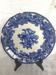 Blue Plate C 1845 Pattern Lobelia Ironstone G Phillips Longport