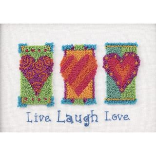 Live Laugh Love Punch Needle Kit 7 inch x 5 Inch