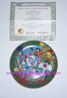 Looney Tunes Christmas Collector Plate Franklin Mint