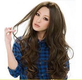 Fashion Princess Style Long Curly Hair Carve Fluffy Bangs Muliticolor