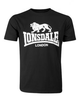 New Lonsdale London Black Classic T Shirt Skinhead Oi Mod Punk Ska