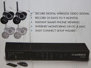 Lorex EDGE+ 4 Channel Security DVR + 4 Wireless Security Cameras