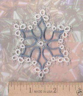 Tatted Snowflake Christmas Ornament Xmas Tatting