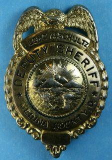 Deputy Sheriff Medina County Ohio Police Badge Lloyd H Schultz