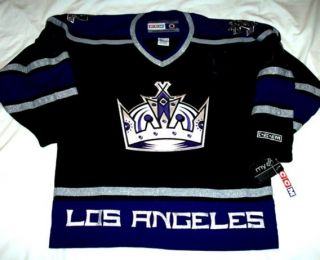 Los Angeles Kings Size XL CCM 550 Hockey Jersey Black BNWT La Kings