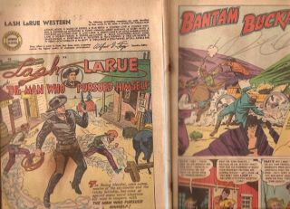 Lot of 4 Western Golden Age Comic Books Coverless