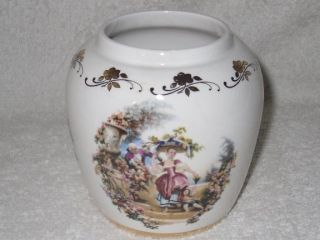 Lord Nelson Pottery England Romantic Fragonard Art Scene Jar Vase