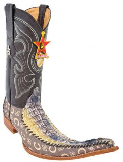 Mens Western Cowboy Boots Los Altos Handmade Genuine Caiman Fashion