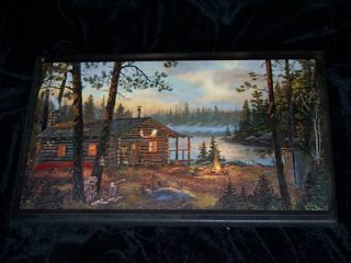 Log Cabin Sign Rustic Lodge Theme wall decor plaque country cabins