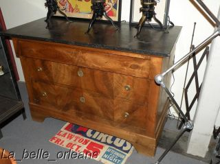 French Louis Philippe 19h C Dresser Marble op L K