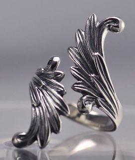Angel Ring Wing Sterling Silver