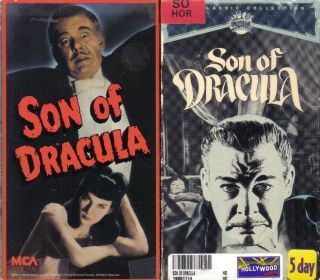 VHS Son of Dracula Lon Chaney Jr Choice of Boxes