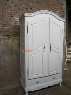Armoire Wardrobe in Stock French Rococo Shabby Chic Louis XI