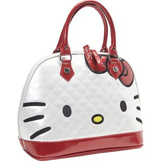 Loungefly Hello Kitty Quilted Face Satchel White