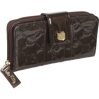 Loungefly Hello Kitty Brown Patent Embossed Wallet