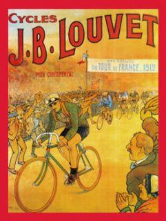 Tour de France Louvet Metal Sign Retro Bike Race French Scenery Garage