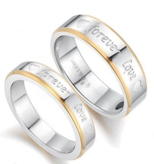 LOVE Engraved Couple Rings fine Stainless Steel Magnetic Ring R2