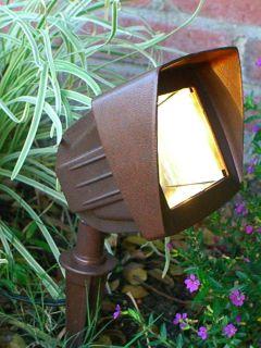 LED 3watt Low Voltage Landscape Lighting – Flood Light in Rust