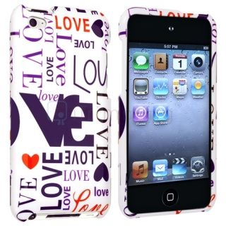 Pink Love Hard Skin Case Cover for iPod Touch 4 4G 4th Gen