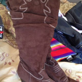 Redtco Holiday Boots Brown Cowboy Style Sz 10