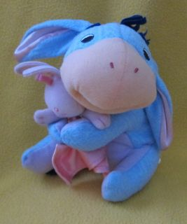 Fisher Price Baby Eeyore Bunny Lovie Blanket Soft Toy Nursery Pooh