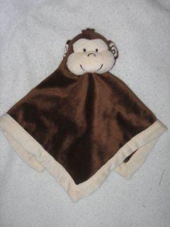 Tiddliwinks Brown Monkey Security Blanket Baby Lovey Lovie