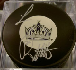 Luc Robitaille Autographed Signed Los Angles Kings Hockey Puck HOF