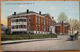 1911 NY Postcard Lewis County Home Lowville New York