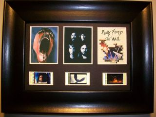PINK FLOYD The Wall Framed Trio Movie Film Cell Memorabilia 3 film