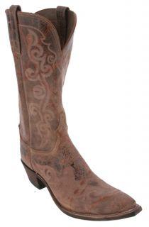 Lucchese Rust Brown N4713 S43 Calfskin Womens Cowboy Boots
