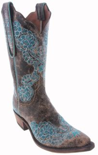 Lucchese Brown N4703 S43 Aviator Womens Cowboy Boots