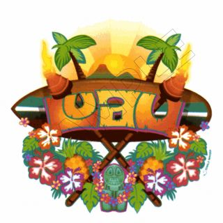 Tropical Luau Edible Cake Topper Decoration Image
