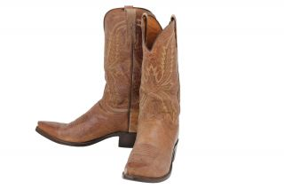 250 Pre Owned Lucchese 1883 Tan Mad Dog Goat Mens Boots 9 5 D $330