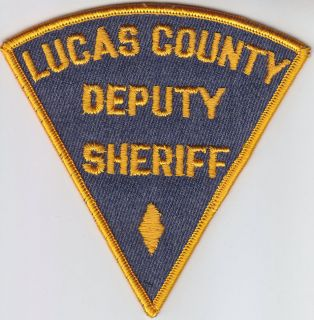 Lucas County OH Ohio Deputy Sheriff police patch CHEESECLOTH BACK