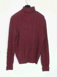 Loro Piana 100 Cashmere Cable Turtleneck Sweater Size 46 New